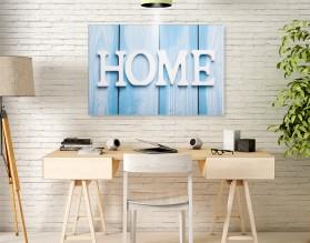 BLUE HOME - obraz na szkle