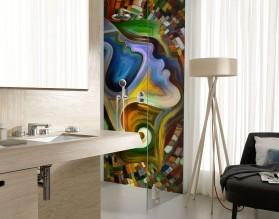 MOZAIKA - panel szklany łazienkowy