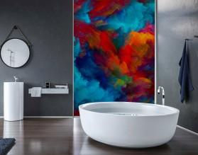BURZA BARW - nowoczesny panel szklany do łazienki