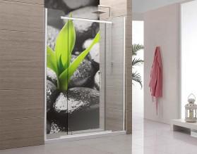 BAMBUS NA KAMIENIACH - panel szklany do łazienki