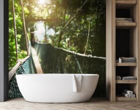 MOST LINOWY - panel szklany do łazienki