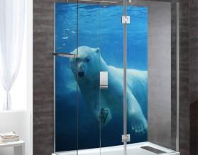 MIŚ POLARNY - panel szklany do łazienki