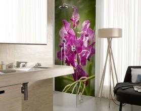 RÓŻOWE STORCZYKI - panel szklany do łazienki