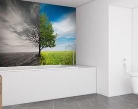 DRZEWO ŻYCIA - panel szklany do łazienki