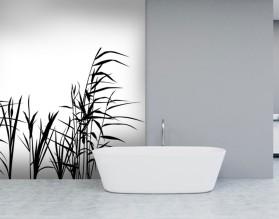 TATARAK B&W - szklany dekor do łazienki
