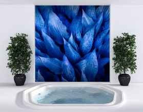 NIEBIESKIE FUNKIE - szklany dekor do łazienki