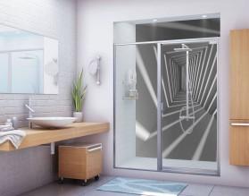 TUNEL 3D - panel szklany do łazienki