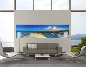 NADMORSKI WIDOK - panorama - obraz na płótnie