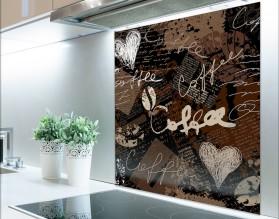 COFFEE - panel szklany typograficzny