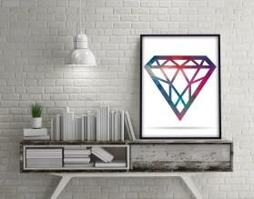 DIAMENT - minimialistyczny plakat w ramie