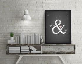 YOU & ME - plakat typograficzny