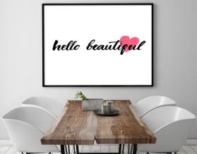 HELLO BEAUTIFUL - plakat w ramie