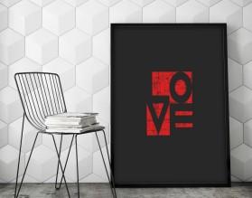 RED LOVE - plakat typograficzny