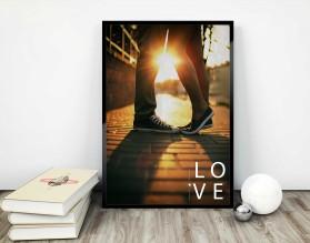IN LOVE - plakat miłosny