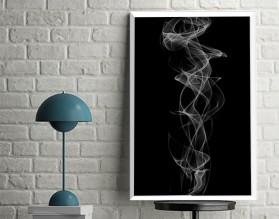 BLACK SMOKE - designerski plakat w ramie
