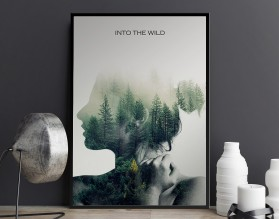 INTO THE WILD - designerski plakat w ramie