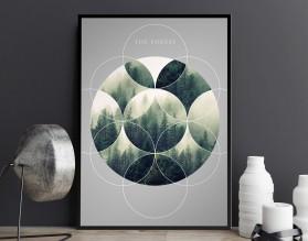THE FOREST - designerski plakat w ramie