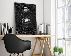 COFFEE SHOP - nowoczesny plakat w ramie