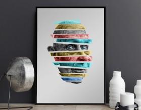 GRANDPA COLOUR - designerski plakat w ramie