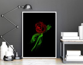 RÓŻA DYM - nowoczesny plakat w ramie