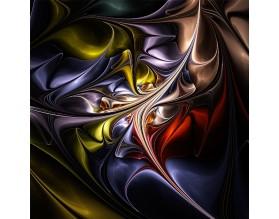 KWIATOWE FRAKTALE 01 - obraz na szkle - grafika