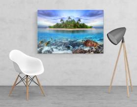 TROPICAL ISLAND - obraz szklany