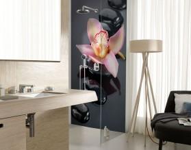 STORCZYK NA KAMIENIACH - panel szklany do łazienki