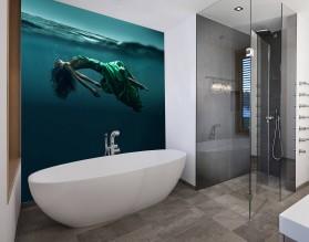 SYRENA - nowoczesny panel szklany do łazienki