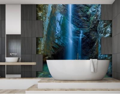 Egzotyczny Wodospad Nowoczesny Panel Szklany Na Wymiar Do