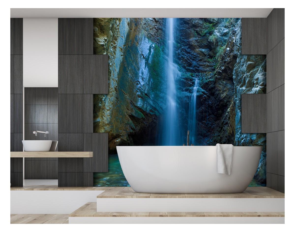 Egzotyczny Wodospad Nowoczesny Panel Szklany Na Wymiar Do Lazienki
