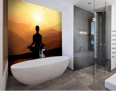 MEDYTACJA - panel szklany do łazienki