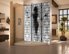 CIEŃ KOBIETY - panel szklany do łazienki