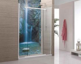 EGZOTYCZNY WODOSPAD - panel szklany do łazienki