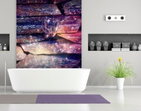 MAGICZNE KAMIENIE - panel szklany do łazienki