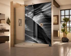 JASKINIA CZARNO-BIAŁA - panel szklany do łazienki