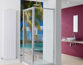 RAJSKA PLAŻA - panel szklany do łazienki