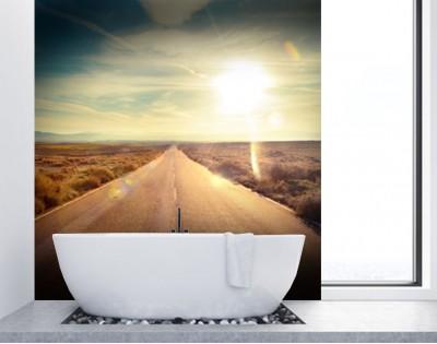 PUSTYNNA AUTOSTRADA - panel szklany do łazienki