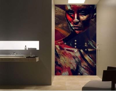 BARWY WOJENNE - panel szklany do łazienki