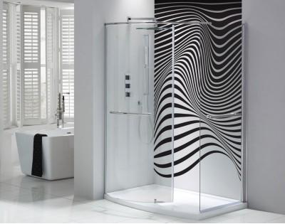 ABSTRAKCYJNA ZEBRA - szklany  dekor do łazienki