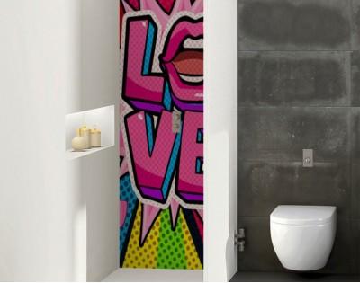 POP ART - szklany dekor do łazienki
