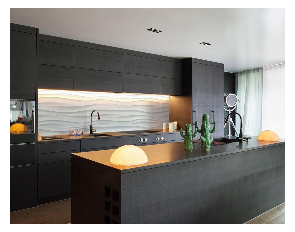 bia e fale minimalistyczny hartowany panel szklany dekoracje cienne sklep internetowy urboart. Black Bedroom Furniture Sets. Home Design Ideas