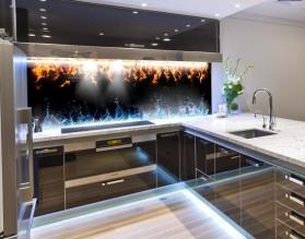 ŻYWIOŁY - nowoczesny panel szklany do kuchni