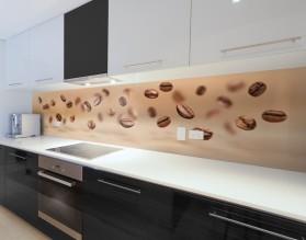 ZIARNA KAWY - panel szklany do kuchni na wymiar