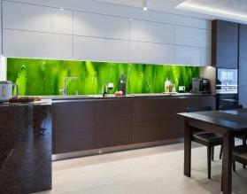 TRAWA O PORANKU - panel szklany do kuchni na wymiar