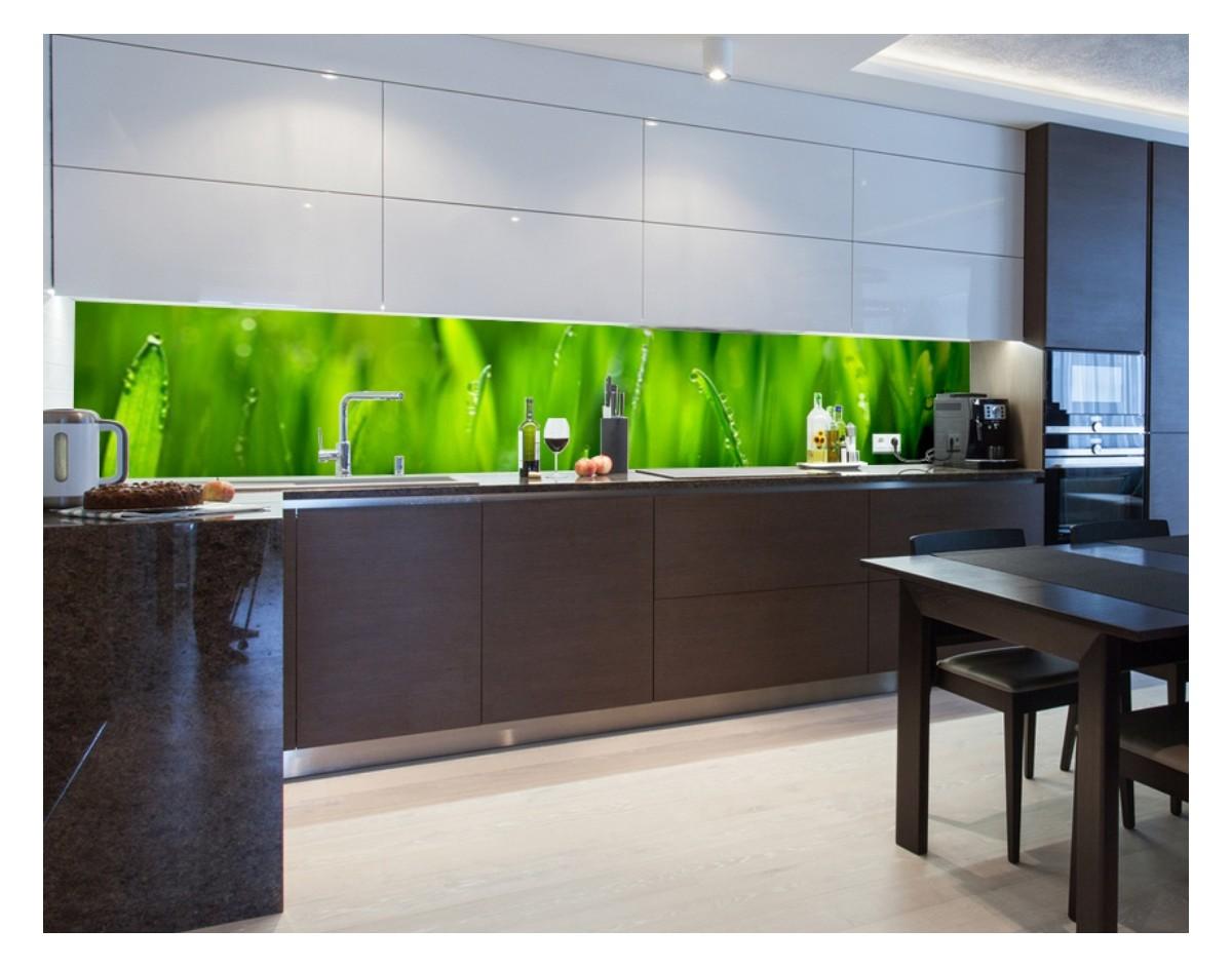 trawa o poranku hartowany panel szklany do kuchni na wymiar dekoracje cienne sklep. Black Bedroom Furniture Sets. Home Design Ideas