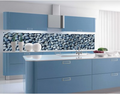BLUE STONES - panel szklany kuchenny