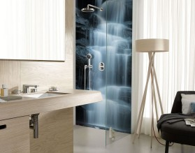 KASKADA - panel szklany do łazienki