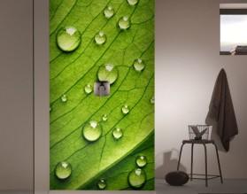 LIŚĆ W ROSIE - panel szklany do łazienki