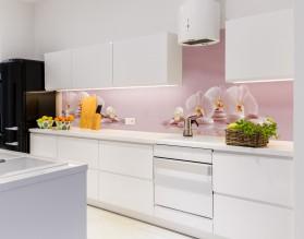 STORCZYKI PUDROWY RÓŻ - kuchenny panel szklany