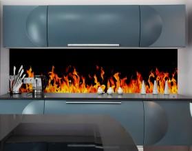 PŁOMIENIE - nowoczesny panel szklany do kuchni